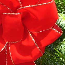 Maine Balsam Wreath Red Velvet Bow