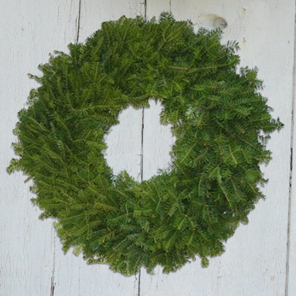 Simple Undecorated Balsam Wreath